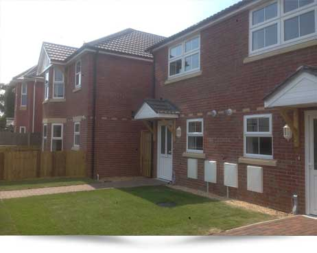 Bournemouth. New build four 2 bedroom semi detached homes.