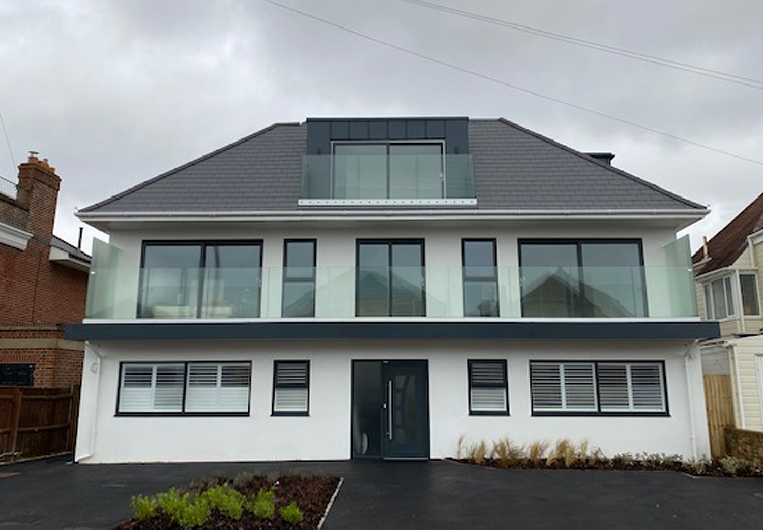 Southbourne. Completed 2020. One 3 bedroom flat and three 2 bedroom flats