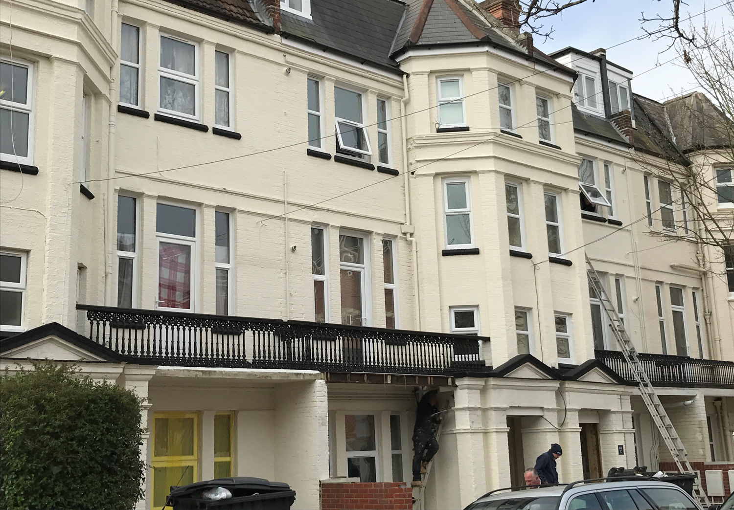 Westbourne. Completed. Conversion of HMO building into 11 self contained studio and 1 bedroom flats.