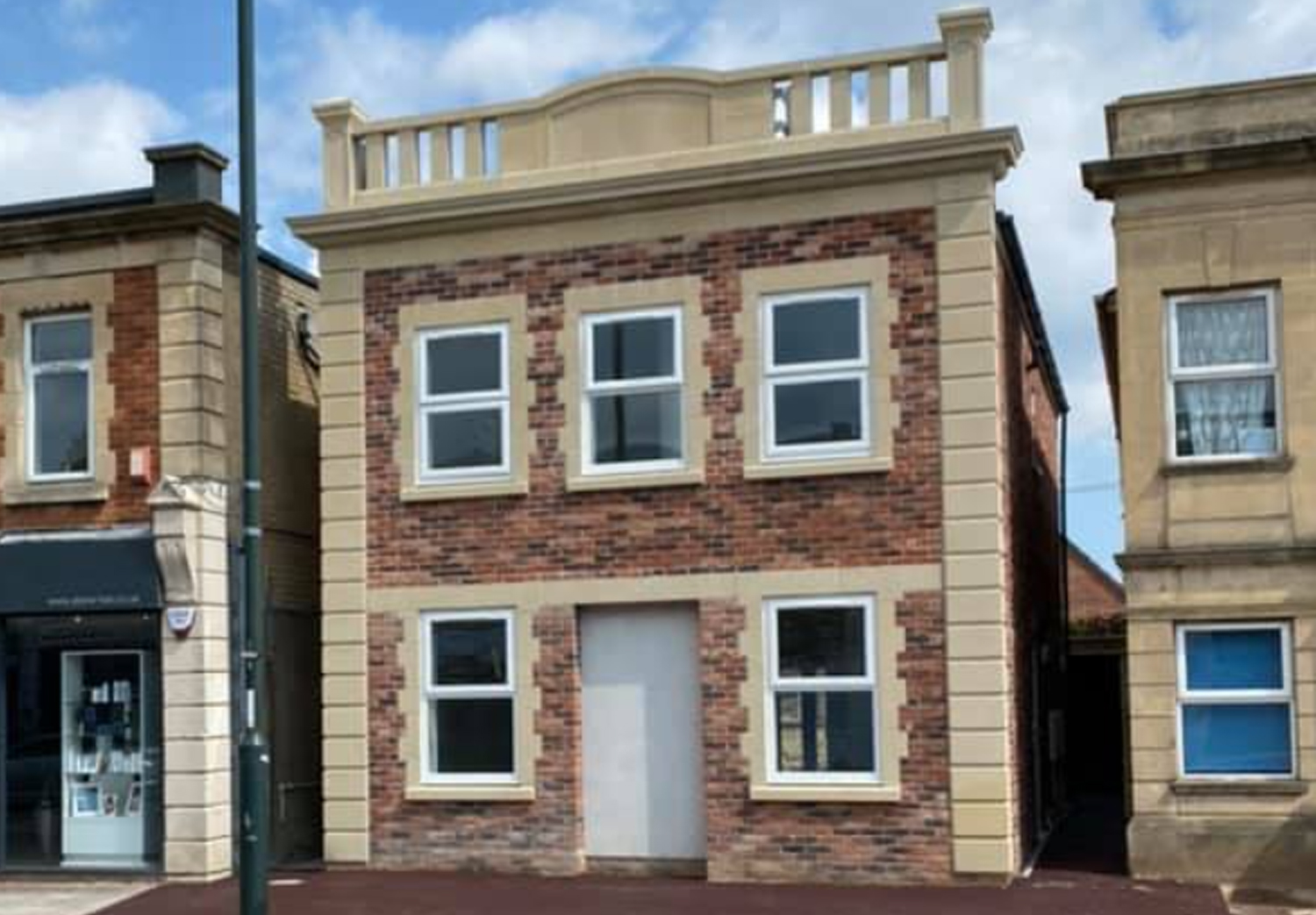 Moordown. Completed 2020. Two 2 bedroom flats. Keeping in style with existing building and stone detailing.